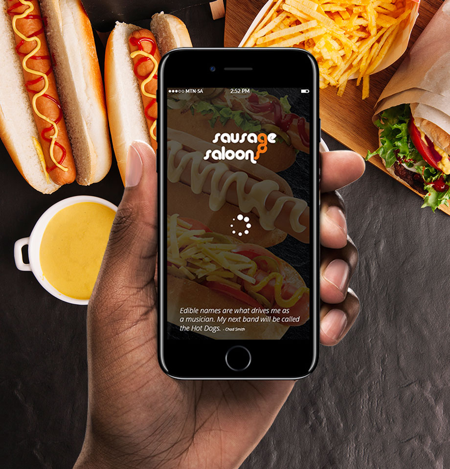 Mobile app for Sausage Saloon